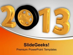 New Year Wishes For Family Theme PowerPoint Templates Ppt Backgrounds For Slides 0413