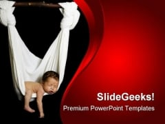 Newborn Baby PowerPoint Templates And PowerPoint Backgrounds 0711