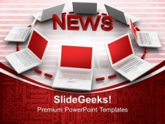 News Concept Technology PowerPoint Templates And PowerPoint Themes 0812