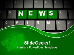 News On Computer Keyboard Communication PowerPoint Templates Ppt Backgrounds For Slides 1112