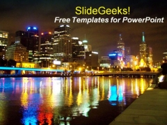 Nightlife City PowerPoint Template