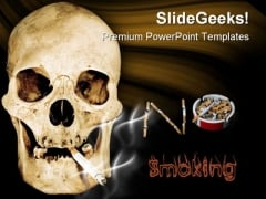 No Smoking01 Health PowerPoint Templates And PowerPoint Backgrounds 0811