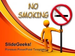 No Smoking Area Health PowerPoint Backgrounds And Templates 1210