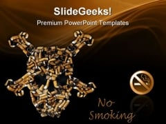 No Smoking Health PowerPoint Templates And PowerPoint Backgrounds 0811