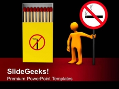 No Smoking Health PowerPoint Templates Ppt Backgrounds For Slides 0313