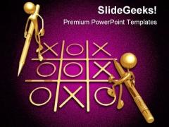No Winner Business PowerPoint Template 0610