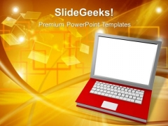 Notebook Technology Communication PowerPoint Templates And PowerPoint Themes 1012