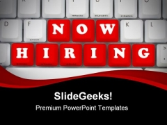 Now Hiring Computer PowerPoint Themes And PowerPoint Slides 0411