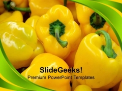 Nutritious And Healthy Pepper Vegetables PowerPoint Templates Ppt Backgrounds For Slides 0213
