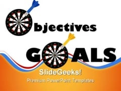 Objectives And Goals Success PowerPoint Themes And PowerPoint Slides 0811