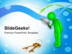 Observe For The Right Solution Key PowerPoint Templates Ppt Backgrounds For Slides 0613