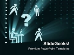 Office Workers Business PowerPoint Themes And PowerPoint Slides 0711