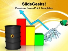 Oil Barrel With Finance Graph Business PowerPoint Templates And PowerPoint Themes 0812