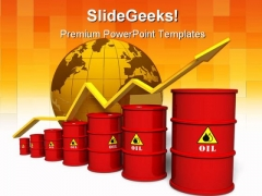 Oil Concept Business PowerPoint Template 0910