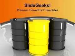 Oil Drums Placed Together Resource Saving PowerPoint Templates Ppt Backgrounds For Slides 0213