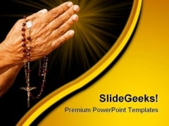 Old Hands Praying Religion PowerPoint Themes And PowerPoint Slides 0411