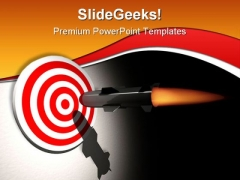 On Target Business PowerPoint Template 1110
