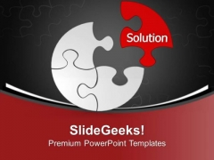 One Solution Can Solve The Problem PowerPoint Templates Ppt Backgrounds For Slides 0713