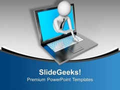 Online Business Agreement PowerPoint Templates Ppt Backgrounds For Slides 0713