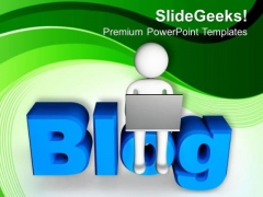 Online Concept Of Blog For Ideas Or Opinions PowerPoint Templates Ppt Backgrounds For Slides 0613