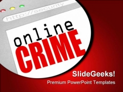 Online Crime Web Screen Internet PowerPoint Templates And PowerPoint Backgrounds 0311