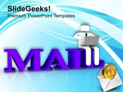 Online Delivery Of Mail Internet Concept PowerPoint Templates Ppt Backgrounds For Slides 0513
