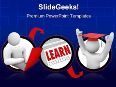 Online Education Internet PowerPoint Backgrounds And Templates 1210