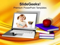 Online Education Learning Internet PowerPoint Templates Ppt Backgrounds For Slides 0213