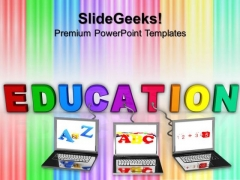 Online Education Technology PowerPoint Templates And PowerPoint Themes 0612