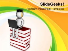 Online Education To Gain Success In Career PowerPoint Templates Ppt Backgrounds For Slides 0513