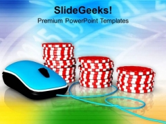 Online Gambling Concept Internet PowerPoint Templates Ppt Backgrounds For Slides 0313