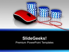 Online Gambling Poker Chips PowerPoint Templates Ppt Backgrounds For Slides 0313
