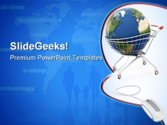 Online Global Shopping Internet PowerPoint Themes And PowerPoint Slides 0911