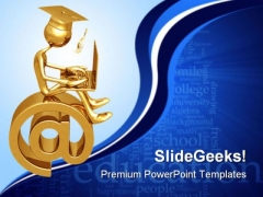 Online Graduate Education PowerPoint Templates And PowerPoint Backgrounds 0611