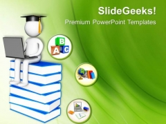 Online Graduation E Learning Concept PowerPoint Templates Ppt Backgrounds For Slides 0513