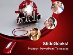 Online Help Internet PowerPoint Themes And PowerPoint Slides 0811