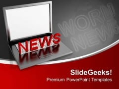 Online International News PowerPoint Templates Ppt Backgrounds For Slides 0313