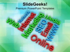 Online Internet Marketing Words PowerPoint Templates Ppt Backgrounds For Slides 0413