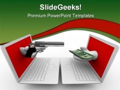 Online Internet PowerPoint Template 0810