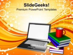 Online Learning Concept Technology PowerPoint Templates Ppt Backgrounds For Slides 0113