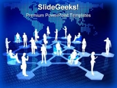 Online Network Community People PowerPoint Templates And PowerPoint Backgrounds 0211