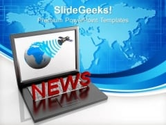 Online News Communication Technology PowerPoint Templates Ppt Backgrounds For Slides 1212