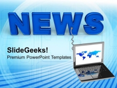 Online News Internet Technology PowerPoint Templates Ppt Backgrounds For Slides 0113