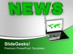 Online News Updates Internet PowerPoint Templates Ppt Backgrounds For Slides 0213