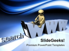 Online Search Internet PowerPoint Themes And PowerPoint Slides 0511