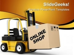 Online Shop Delivery Marketing PowerPoint Templates And PowerPoint Backgrounds 0711