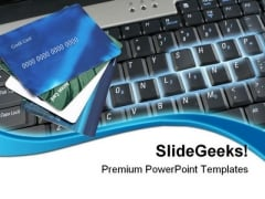 Online Shopping Credit Cards Internet PowerPoint Templates And PowerPoint Backgrounds 0711