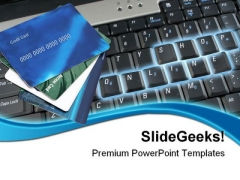 Online Shopping Credit Cards Internet PowerPoint Themes And PowerPoint Slides 0711