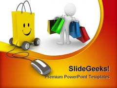 Online Shopping Mouse PowerPoint Templates And PowerPoint Backgrounds 0611