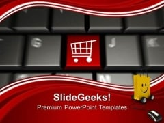 Online Shopping With Shopping Cart Symbol PowerPoint Templates Ppt Backgrounds For Slides 0313